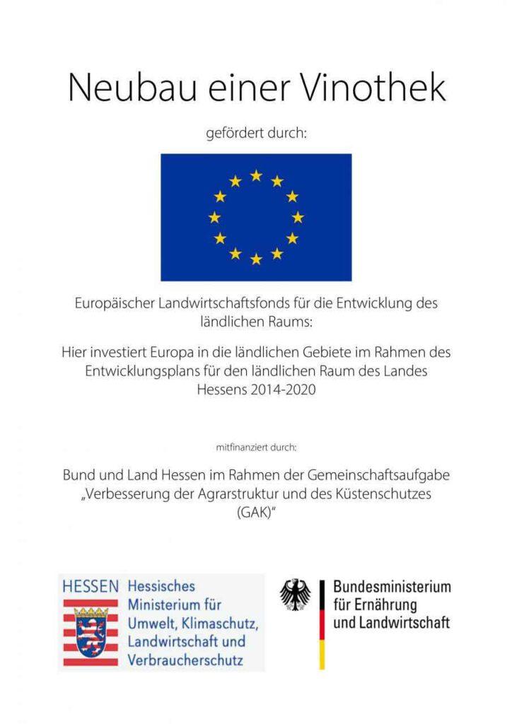 EU Förderung - Vinothek Weingut Schreiber